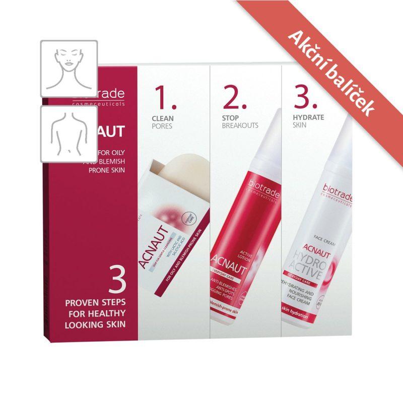 ACNAUT 3 v 1 komplexní balíček Biotrade pro zdravou pokožku