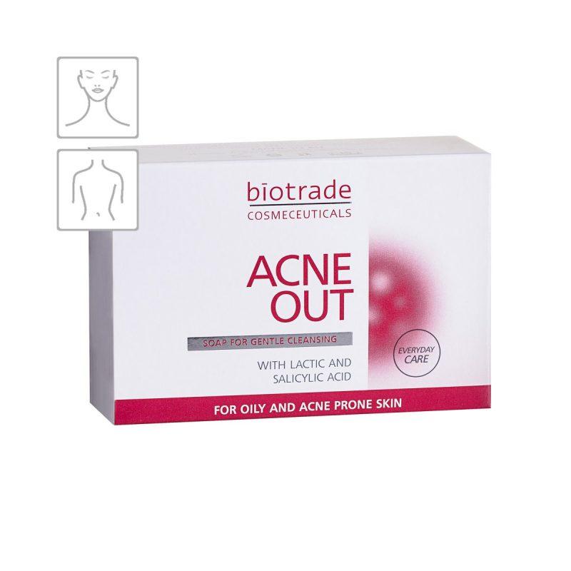 Acne Out Soap Biotrade čisticí mýdlo na akné s mléčnou a salicylovou kyselinou