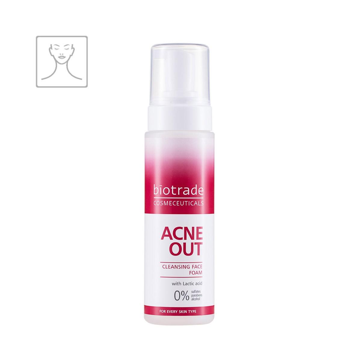 Acne Out Cleansing Face Foam Biotrade čisticí pěna s kyselinou mléčnou na aknózní pleť