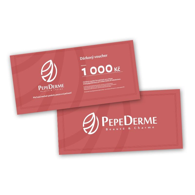 Dárkový voucher poukaz od PepeDerme 1000 Kč