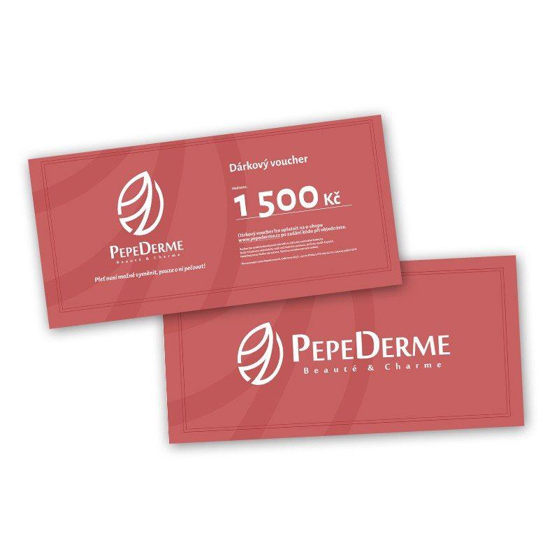 Dárkový voucher poukaz od PepeDerme 1500 Kč