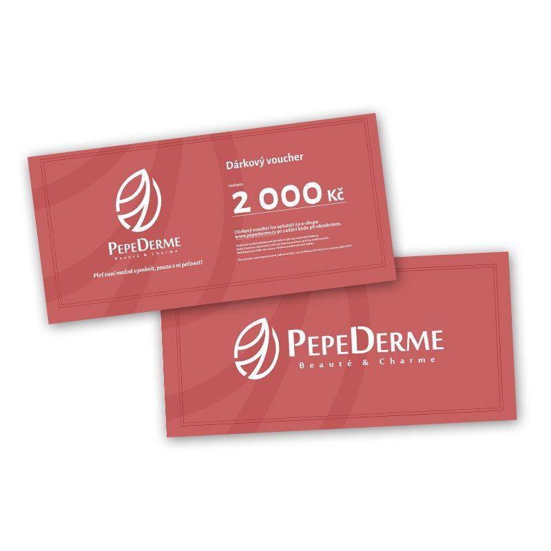 Dárkový voucher poukaz od PepeDerme 2000 Kč