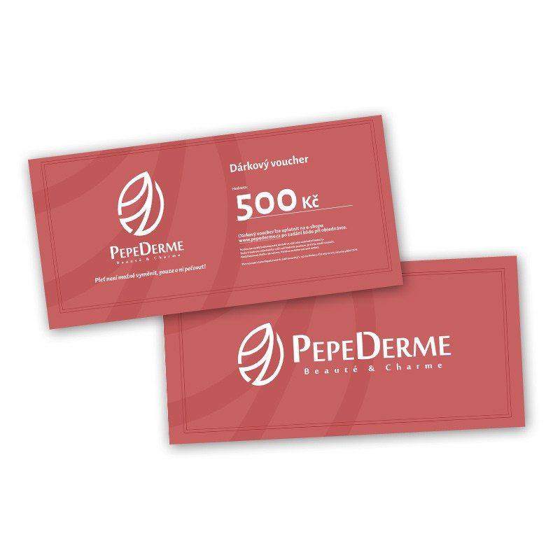 Dárkový voucher poukaz od PepeDerme 500 Kč