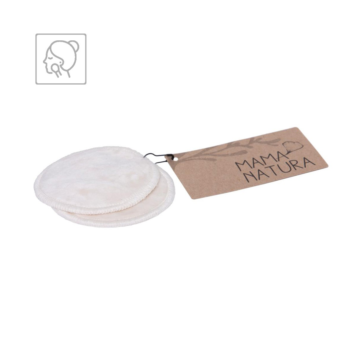 Kosmetický pratelný tampon Mama Natura z bio bavlněného sametu – 7 cm malý (2 ks)