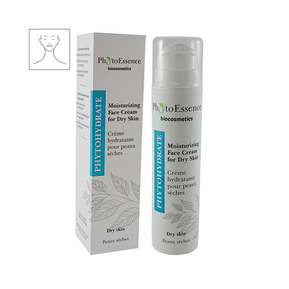 Moisturizing Face Cream for Dry Skin PhytoEssence hydratační pleťový krém na suchou pleť s aloe vera